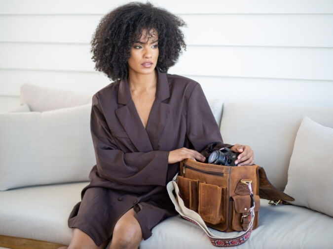 Hector Leather Camera Bag