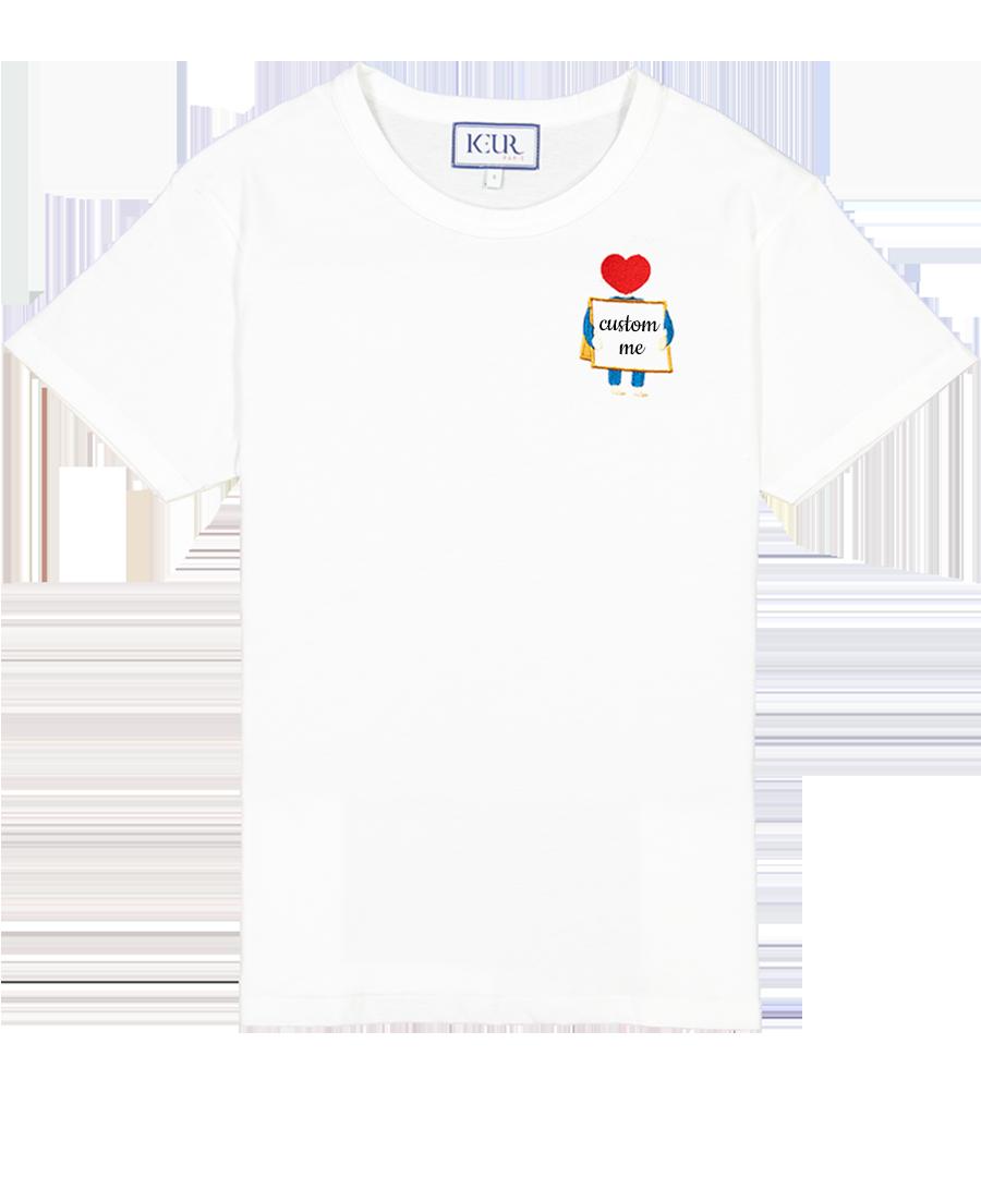 T-shirt bonhomme sandwich personnalisé blanc