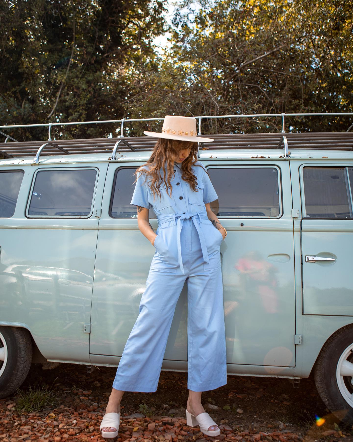 Brook Surplus Fabric Cotton Twill Boilersuit Pastel Yellow DRESSES & JUMPSUITS | Womens Ilk and Ernie