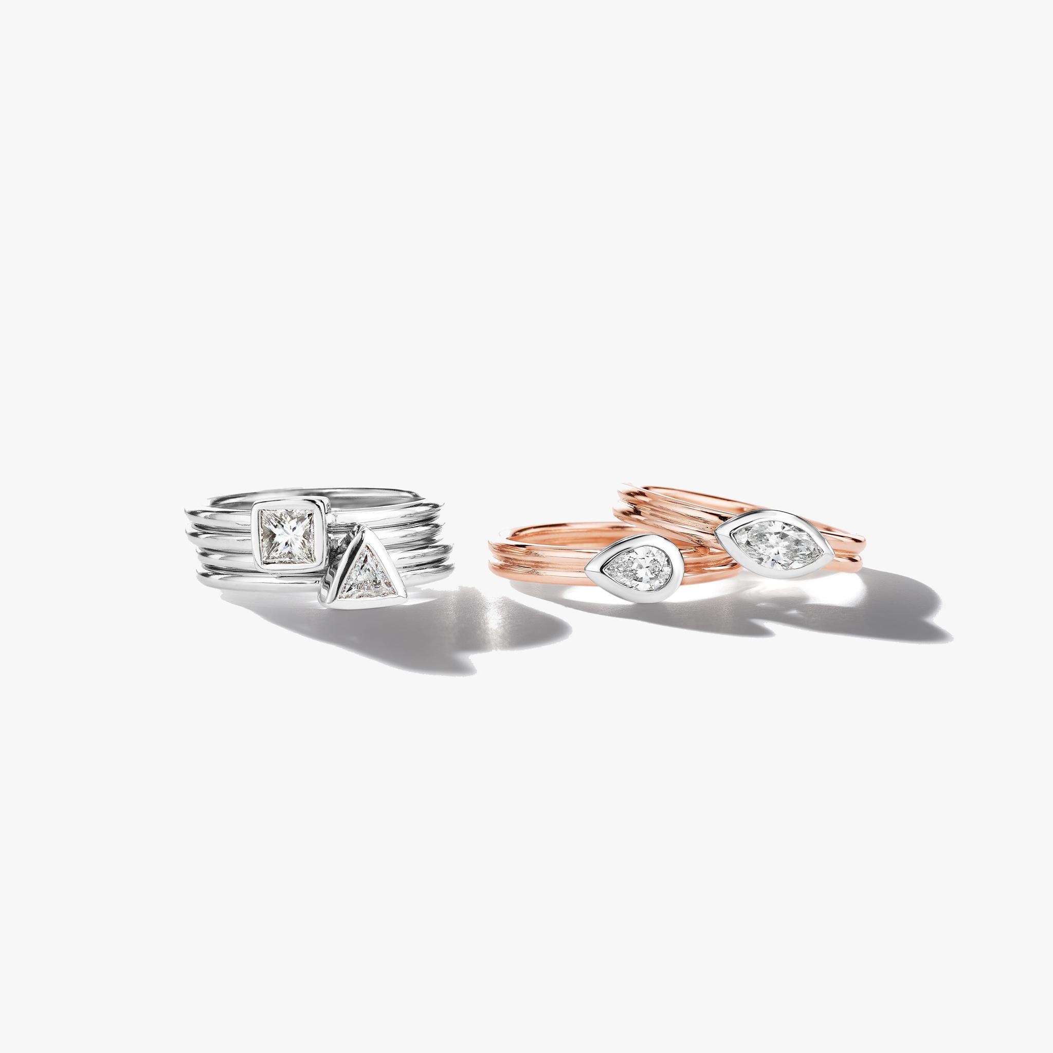 Marquise-Cut-Bezel-Set-Diamond-Ring_18k Rose Gold
