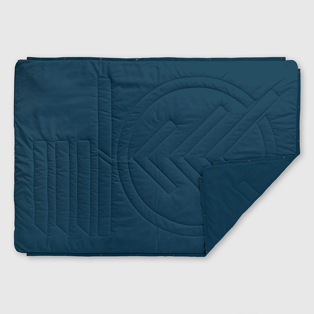 RECYCLED RIPSTOP OUTDOOR CAMPING BLANKET LEGION BLUE